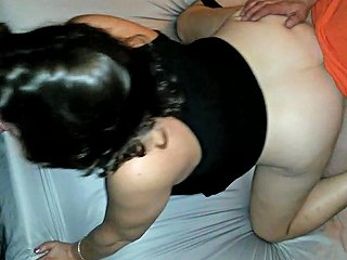 Friend Spitroast Wife Cums In Her Pussy Hubby Goes